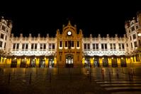 Train Station of Valencia at night, Spain