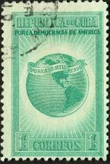 vintage Cuban postage stamp