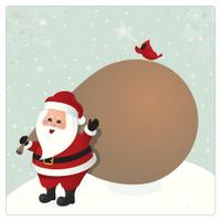 Santa Claus Xmas card. Christmas design
