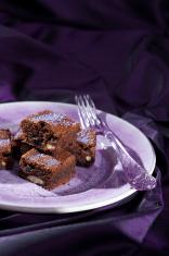 Lavender chocolate brownies
