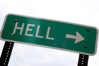 This Way to Hell Sign