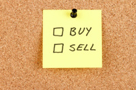 Buy and Sell Checkboxes on an Adhesive Note