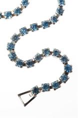 Vintage Blue Diamond Necklace