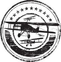 Aviation grunge rubber stamp