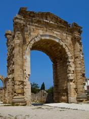 Roman Victory Arch in Tyre Lebanon