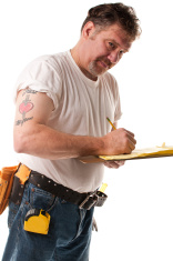 Contractor with Tattoo
