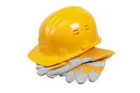 helmet of the builder, it is isolated on white