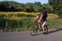 Man riding on mountain bike