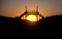 Prefect sunset under bridge