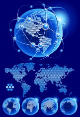 Globe World Map dotted