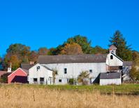 Decayed farm building