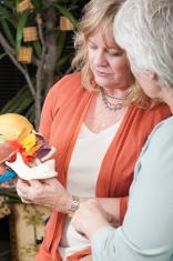 Chiropractor Showing Skull Model to Patient