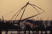 sunset in Fort Kochi