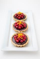 Chocolate Cranberry Tarts