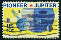 Pioneer Jupiter Stamp