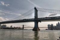 East River in New York City, Brooklyn and Manhattan Bridge