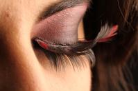 Brunette eye lashes