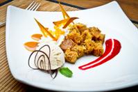 Fancy Carrot Cake Dessert a la Mode