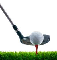 Golf Club, Ball and Tee on grass