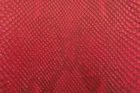 Red python snake skin texture background.