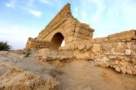 Israel, Ancient Roman aqueduct in Ceasarea