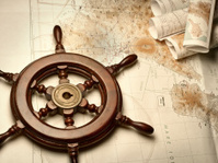Navigation maps and helm