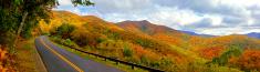Panorama of Mountain Road