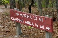 Hiking Direction Sign Marina, Camping