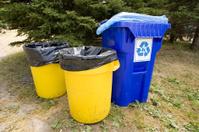 Recycling bin garbage can.