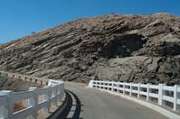 Bridge on dirt road in Namibia