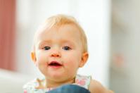 Portrait of cute little baby
