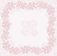 Ornate romantic card template