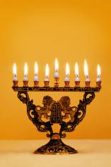 Ornate Hanukkah Menorah