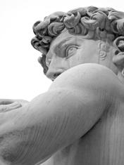 Michelangelo's David detail