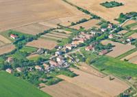 Village aerial, view