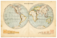 the world in hemispheres 1883