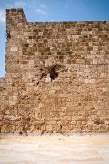Scar of war at Tripoli Citadel in Lebanon