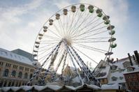 big Christmas Ferris wheel on town square