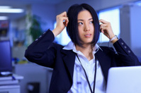 Japanese office lady - getting ready for the day