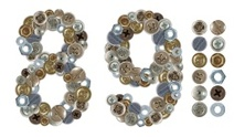 Numbers 8 and 9 made of various screw heads