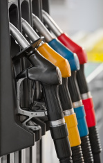 gasoline station fuel pump