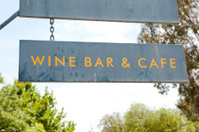 Wine Bar and Cafe Sign