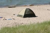 Beach scene - camping