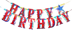 Happy Birthday alphabets