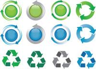 recying symbols and arrow icon kit