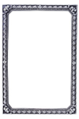 antique metal frame with paths