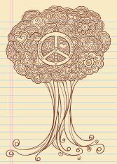 Notebook Doodle Sketch Henna Tree