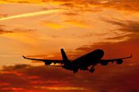 Aircraft at dusk