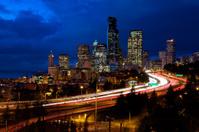 Seattle night traffic