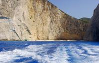 People on shipwreck beach at Zakynthos island